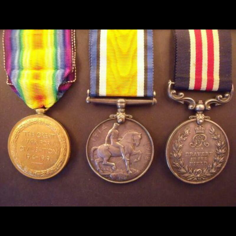 GvR MM & PAIR to PTE THOMPSON. | Great War Medals