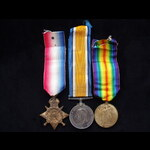 1914 TRIO to 2051 PTE Archibald ANDERSON 1/5th R.HIGHLANDERS 'Black Watch' who served in France f...