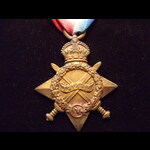 1914/15 STAR to 1862 PTE David LLEWELLYN 2nd WELSH REGT who went out to France 30/11/14 but retur...