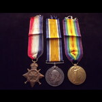 1914/15 TRIO to G-6404 PTE Arthur Bertram ARNOLD 13th ROYAL FUSILIERS who lived off