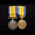 BWM & VICTORY MEDAL to 2nd LIEUT James MacQueen SMITH, ROYAL FIELD ARTILLERY. To France 18/3/18 &...