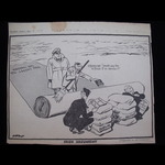 'IRISH ARGUMENT' - ORIGINAL WW2 HOME FRONT NEWSPAPER CARTOON by 'Low' published 8/7/40