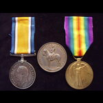 BWM & VICTORY MEDAL with YEOMANRY RIFLE ASSOCIATION MEDALLION to 281884 PTE Edmund R. WATSON 1st ...