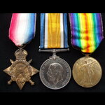 1914 TRIO to 2051 PTE Archiba. | Great War Medals