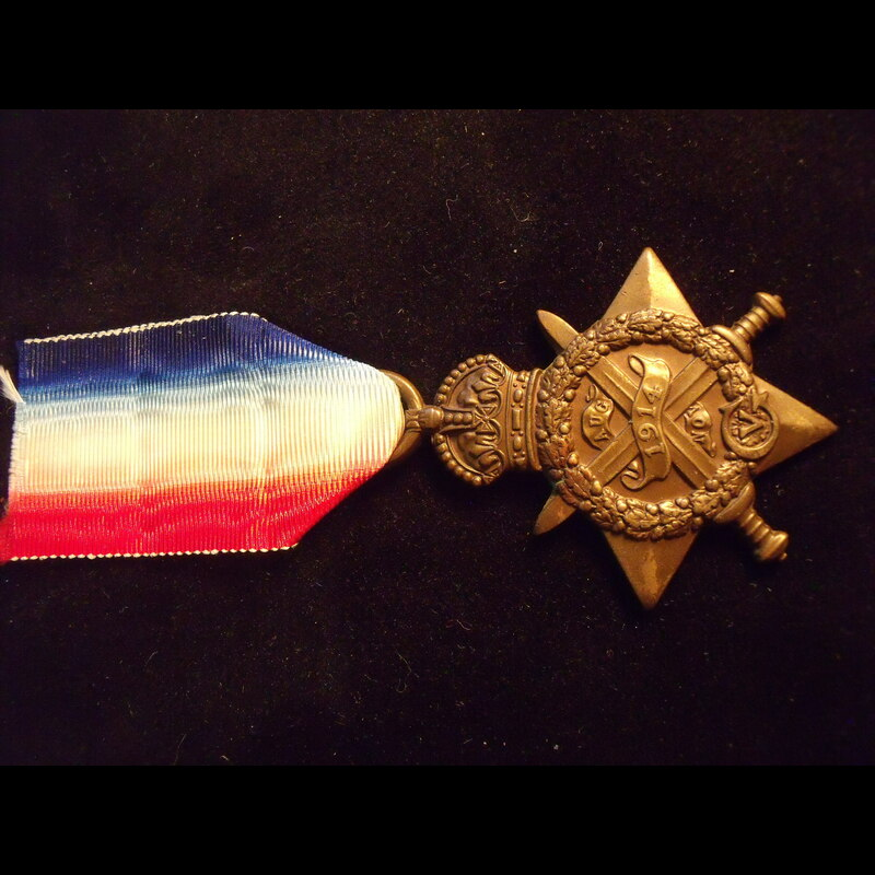 1914 STAR to 7805 PTE Frederi. | Great War Medals