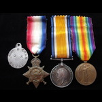 1914 TRIO with Original Aluminium I.D.Tag to 8254 PTE Edwin CORK 2nd YORKS.L.I. To France 9/9/14 ...