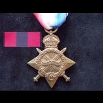 1914/15 STAR to 14712 PTE Duncan McFARLANE 8th K.O.SCO.BORD. Born Kilsyth, Stirling. To France 10...