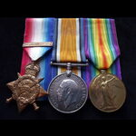 1914 TRIO & Copy 'AUG-NOV 1914' CLASP to S-8015 PTE / A.CPL John THORNTON A.O.C. Born Nottingham ...
