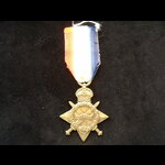 1914/15 STAR to 13106 PTE Herbert James WADE LINCOLNSHIRE REGT, who went to France 14/7/15 with 7...