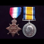 1914/15 STAR & BRITISH WAR MEDAL to S-14151 PTE James HERD 7th CAMERON HIGHLANDERS who went to Fr...