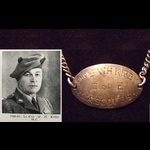 Emotive, personal I.D.TAG & BRACELET of 2nd LIEUT Walter Houx KIRBY 4th S.A.SCOTTISH. Wounded 6 t...