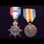 1914 STAR with ORIGINAL '5th AUG - 22nd NOV 1914' CLASP & VICTORY MEDAL to 7897 PTE William Henry...