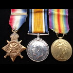 1914 TRIO with copy 'Aug-Nov 1914' Clasp to 11066 PTE Harry COWAN 2nd ROYAL SCOTS FUSILIERS. To F...
