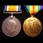 BWM & VICTORY MEDAL to 5833 PTE Bernard Arthur JOYCE 1/21st LONDON REGT. Born in Camberwell. Firs...