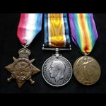 1914 TRIO to 8624 PTE Horace RAWSON 1st SOUTH STAFFORDSHIRE REGT.  Landed at Zeebrugge 4/10/14 & ...