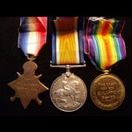 1914/15 TRIO to PTE Lawrence . | Great War Medals