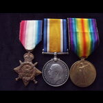 1914 TRIO to 7975 PTE William REYNOLD 1st ROYAL HIGHLANDERS To France 26/8/14 with 1st Black Watc...