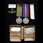 DEFENCE MEDAL & WAR MEDAL to FLYING OFFICER  Maurice Silverthorne TUCKER  R.A.F. from East Finchley