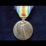 VICTORY MEDAL to LSR-2029 PTE Sidney SEARLE 7th ROYAL SUSSEX REGT. Wounded on Pozieres Ridge, Som...