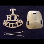 Original 'T/RE/WILTS' Territorial Force Brass Shoulder Title, as worn during WW1