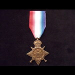 1914 STAR to 11684 PTE Albert BUTLER 1st WORCESTERSHIRE REGT. To France 5/11/14. Transferred to 1...