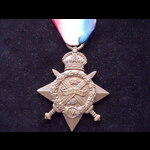 1914 STAR to 25021 GNR George Ernest BOWYER 'O' Battery (The Rocket Troop) Royal Horse Artillery....