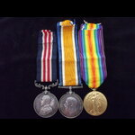 GvR MM, BWM & VICTORY MEDAL t.   Great War Medals