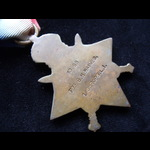 1914 STAR & ORIGINAL ALUMINIUM I.D. TAG to 10268 PTE George William HAINES 1st SHROPS.L.I. Born B...