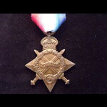 1914/15 STAR to 1594 PTE Thomas GRAY A.& S.HIGHRS. To France 19/2/15 with 1/9th 'Dumbartonshire' ...