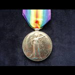 VICTORY MEDAL to 2.LIEUT J.WHITEHEAD - One of several Officers with this rank, initial & name