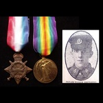 1914/15 STAR & VICTORY to 14785 PTE William KENWORTHY 9th YORK & LANCASTER REGT. From Barnsley. S...