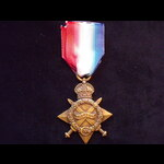 1914/15 STAR to 10343 PTE James MARDEN 1st WELSH REGT.  To France 18/1/15 and served until transf...