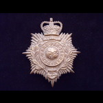 Original ROYAL MARINES Brass Helmet Plate with Queen's Crown on 2 lugs