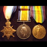 1914/15 TRIO to PTE / 2nd LIEUT Alfred Walter CHIGNELL Commissioned from 2/7th MIDDLESEX REGT int...