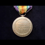 VICTORY MEDAL to 9985 PTE Edward T. WALKER W.YORK.R.   To France 12/11/14 & qualified for the 191...