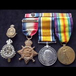 1914 TRIO & ORIGINAL 'AUG-NOV 1914' CLASP plus ephemera to 10531 PTE John 'Jack' ARMSTRONG 18th H...