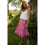 The Fuchsia Pansy Midi Skirt