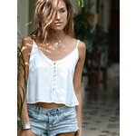 Ivory Shell button Cami