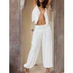 The Aladdin Pants In Ivory crepe