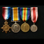 1914/15 Trio & Russian Silver Medal for Zeal to Royal Marine Williams HMS Jupiter