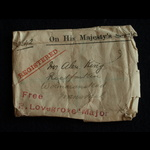 QSA 3 clasp Cpl King Cape Railway Sharp Shooters late 1st Brabants Horse with original postal env...