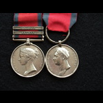 MGS Toulouse & Orthes & Waterloo Medal WIA Pte Game 2nd Batt 95th Foot