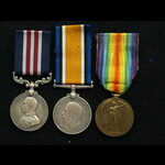 WW1 MM 1918 Spring Offensive & Pair 3 dog tags Pte Garry 1/9 Royal Scots WIA 1915