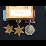 WW2 Group, Box & Casualty Slip CQMS Bywater 5th Notts & Derby Regt KIA 21st Jan 1944 Battle of Ca...