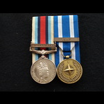 Rare OSM Afghanistan & Nato ISAF medal to Pte Whitehead Royal Mercian & Lancastrian Yeomanry & ba...