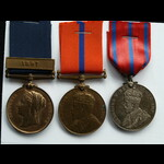 Met Police Jubilee 1887 & clasp 1897, Met Police Coronation 1902 &  1911 PC R Knott L Division