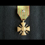 WW1 French Croix de Guerre 1914 1918 with Star