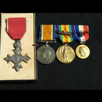 1940 MBE, WW1 Pair mid x3 and Silver Gilt French Medaille des Epidemies Capt Bonham  Royal Army M...