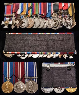A selection of military medals from London Medal Company